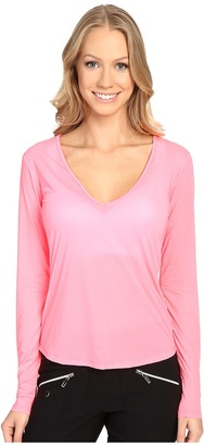 Jamie Sadock Sunsence Lightweight Long Sleeve Layering Under Garment Top with UVP 30 $59.50 thestylecure.com