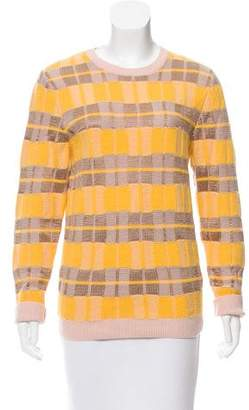Jonathan Saunders Striped Wool-Blend Sweater