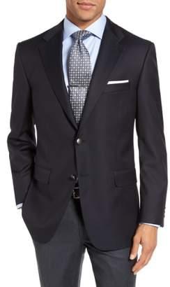 Hickey Freeman Classic B Fit Wool Travel Blazer