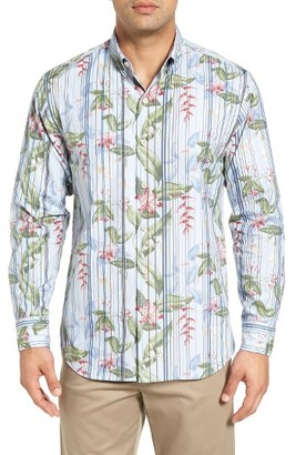 Men's Big & Tall Tommy Bahama Jungle Mist Sport Shirt $158 thestylecure.com