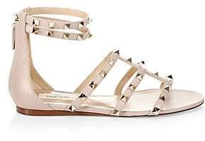 Valentino Women's Rockstud Leather Gladiator Sandals