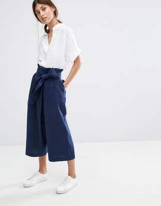Whistles Tilda Wrap Paper Bag Waist Pant $204 thestylecure.com
