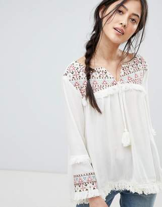 RD & Koko Rd & Koko Festival Top With Mirrored Embroidery Detail