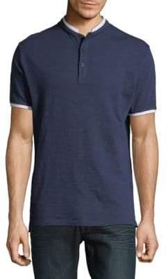 Karl Lagerfeld Short-Sleeve Cotton Henley