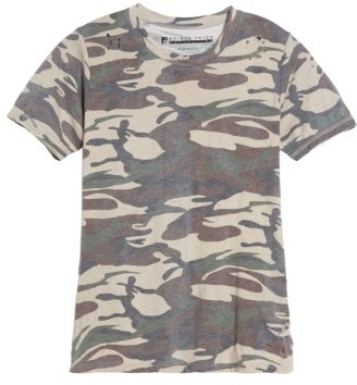 Women's Prince Peter Distressed Camo Tee $45 thestylecure.com