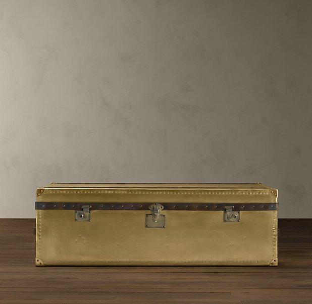 Mayfair Steamer Large Trunk Brass - 53