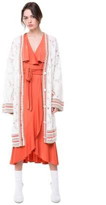 Juicy Couture Slub Knit Long Cardigan