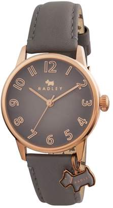 Radley Ladies Watch With Rose Gold Plated Case And Marsupial Genuine Leather Strap Ry2248