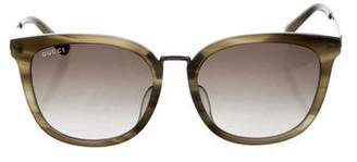 57849d9bb6d Pre-Owned at TheRealReal · Gucci Gradien Web Sunglasses w  Tags