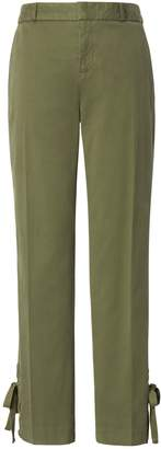 Banana Republic Avery Ankle-Fit Lace-Up Hem Pant