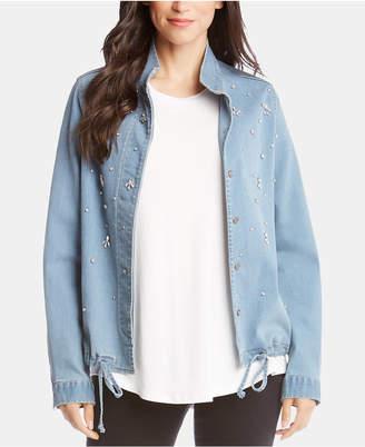 Karen Kane Rhinestone-Embellished Denim Jacket