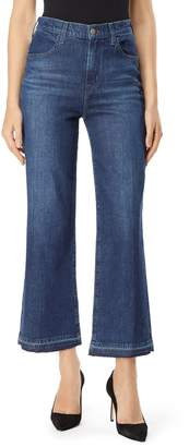 J Brand Joan High Waist Crop Wide Leg Jeans