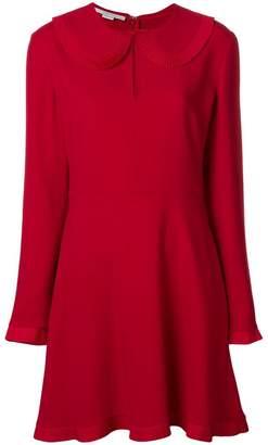 Stella McCartney pleated trim flared dress