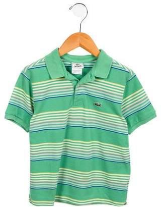 Lacoste Boys' Striped Polo Top
