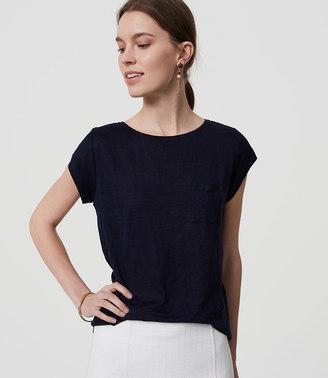 Linen Cap Sleeve Tee $34.50 thestylecure.com