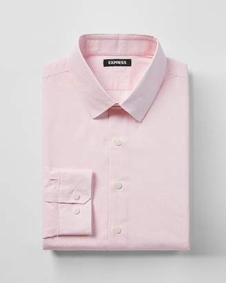 Express Slim Micro Floral Print Dress Shirt