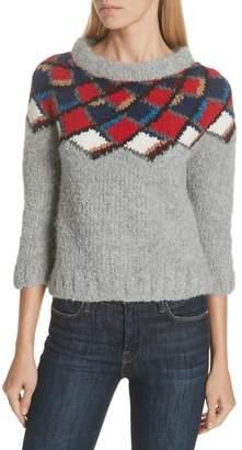 Smythe Argyle Alpaca Blend Sweater