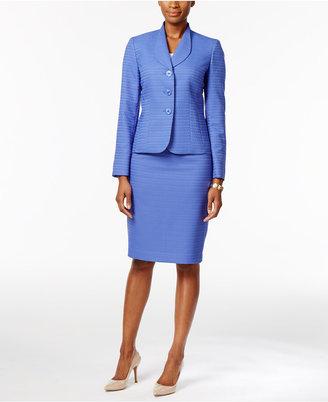 Le Suit Jacquard Skirt Suit $200 thestylecure.com