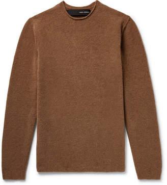 Isabel Benenato Merino Wool-Blend Sweater - Brown