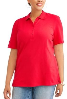 Generic Women's Plus Short Sleeve Polo Shirt