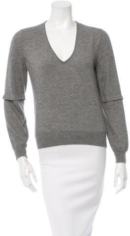 Saint LaurentYves Saint Laurent Knit V-Neck Sweater