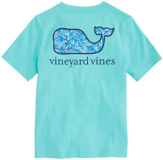 Vineyard Vines Boys Tropical Turtle Whale Fill Pocket T-Shirt
