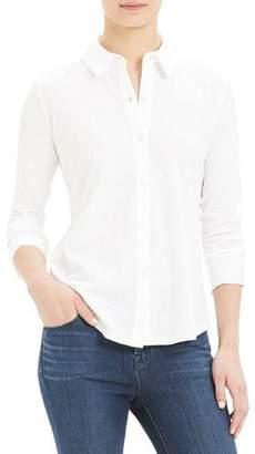 Theory Riduro Button-Down Long-Sleeve Slub Cotton Shirt
