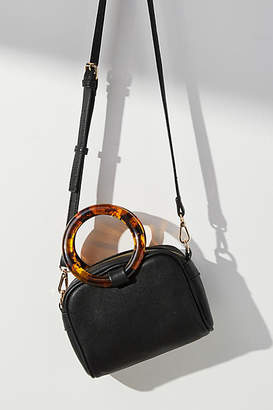 Anthropologie Lucite-Handled Mini Crossbody Bag