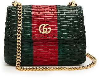 Gucci GG Cestino woven-wicker mini cross-body bag