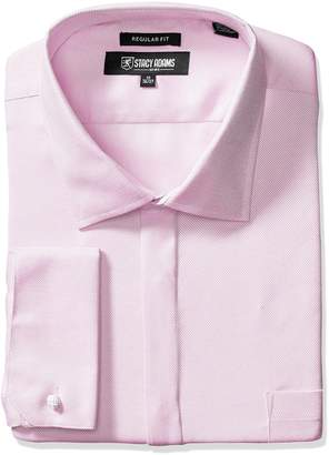 Stacy Adams Men's Big-Tall Textured Solid Dress Shirt