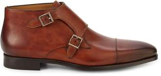 Magnanni Double Monk Strap Leather Boots