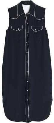 Rag & Bone Silk Crepe De Chine Midi Shirt Dress