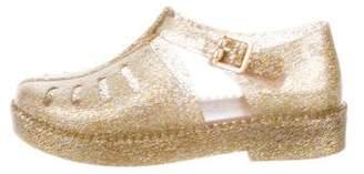 Mini Melissa Girls' Glitter Jelly Sandals