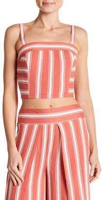 Band of Gypsies Striped Smock Crop Top