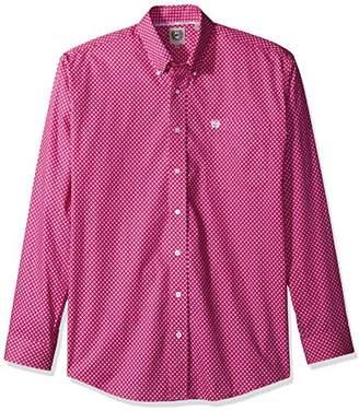 Cinch Men's Classic Fit Long Sleeve Button One Open Pocket Print Shirt