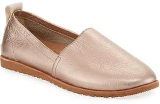 Sorel Ella Metallic Leather Slip-On Sneaker Flats