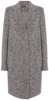 Mint Velvet Grey Textured Boyrfriend Wool Blend Coat