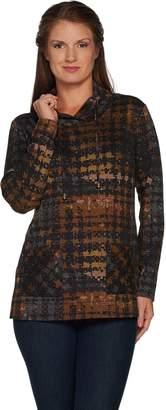 Susan Graver Weekend Printed Ponte Pullover Tunic