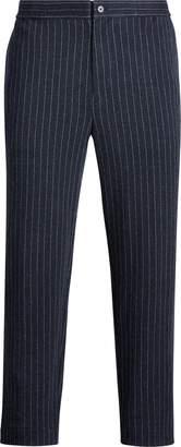 Ralph Lauren Chalk-Stripe Knit Pant