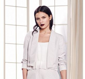 LC Lauren Conrad Runway Collection Embellished Crop Blazer - Women's $70 thestylecure.com