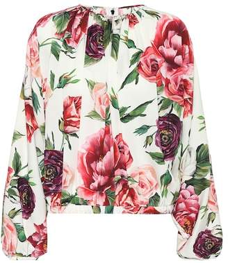 Dolce & Gabbana Floral-printed silk blouse