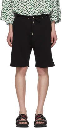 Givenchy Black Vertical Logo Shorts