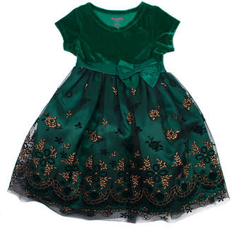 Nanette Baby Short Sleeve Empire Waist Dress - Toddler Girls
