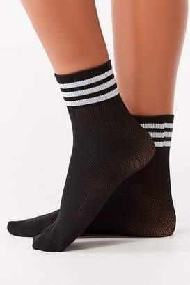 adidas Mesh Striped Black Quarter Sock