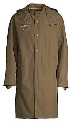 Helmut Lang Men's Hooded Recycled Nylon Rain jacket