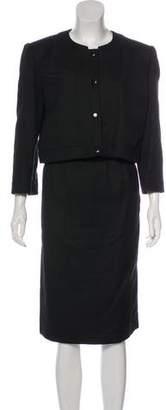Courreges Woven Pencil Skirt Suit