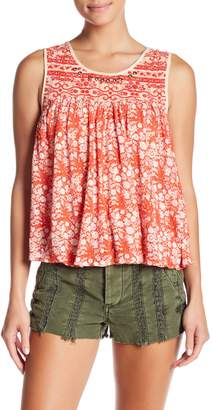 Free People Lucky Coin Linen Blend Tank