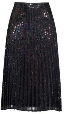 Parker Citrine Iridescent Sequin Pleated Skirt