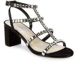 Caparros Insync Embellished Strappy Satin Sandals