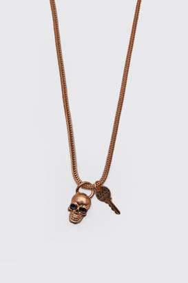MAN Skull & Key Pendant Necklace